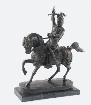 Carlo MAROCHETTI (1805-1867) - według, Rycerz na koniu
