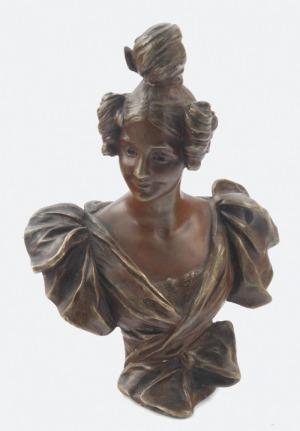 Georges van der STRAETEN (1856-1941), Popiersie kobiety z kokiem