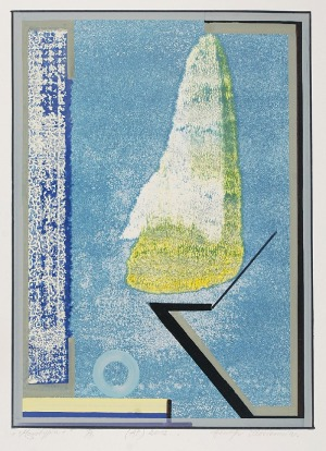 Henryk PŁÓCIENNIK (ur. 1933), Monotypia +, 2012 (z zielonym)