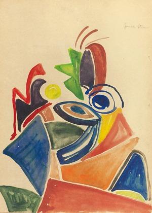 Jonasz STERN (1904-1988), Kompozycja abstrakcyjna