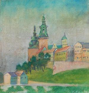 Tadeusza KANTOR (1915-1990), Widok na Wawel / Pejzaż - obraz dwustronny, ok. 1935 r.