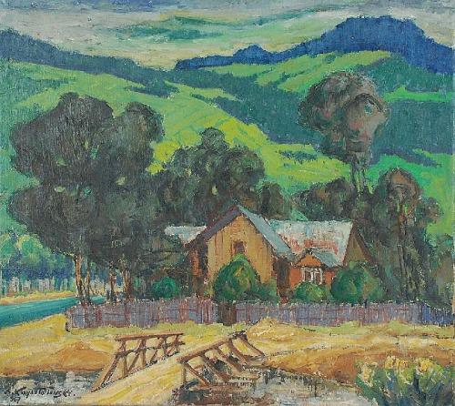 Stanisław KRZYSZTAŁOWSKI (1903-1990), Pejzaż podgórski, 1967