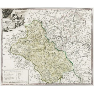 Johann Baptist HOMANN (1664-1724) , Mapa Hrabstwa Kłodzkiego