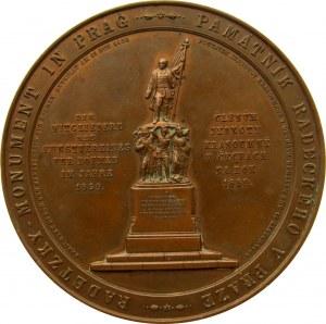 Czechy, medal z okazji odsłonięcia pomnika marszałka Radetzkiego w Pradze w 1859 roku