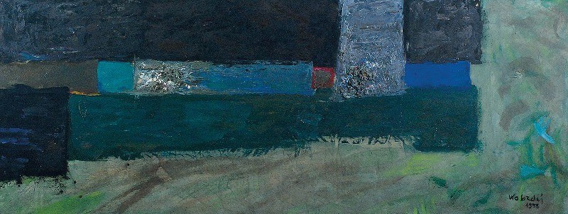 Aleksander KOBZDEJ (1920-1972), Konstrukcja zielona, 1958