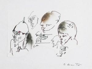 Tadeusz KANTOR (1915-1990), Przedstawiciele władzy - projekt do spektaklu