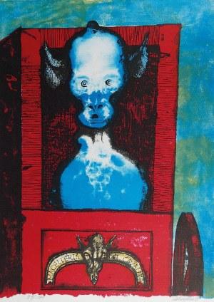 Jan LEBENSTEIN (1930-1999), Bez tytułu, Z cyklu: Folwark zwierzęcy - Georga Orwella, 1974
