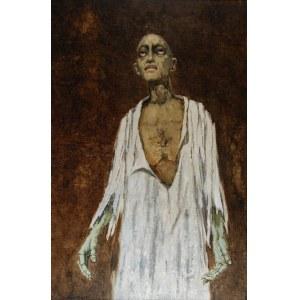 """Stanisław KRZYSZTAŁOWSKI (1903-1990), Hiob - Jerzy Nowak w roli Hioba wg """"Księgi Hioba"""", 1982"""