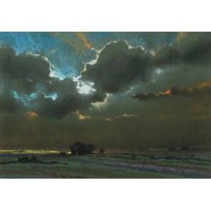 Borys MICHALIK (1969-2018), Pejzaż z chmurami, 1991