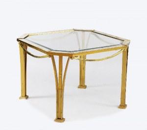 Metalowy stół w stylu art déco