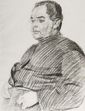 Józef MEHOFFER (1869 -1946), Portret mężczyzny