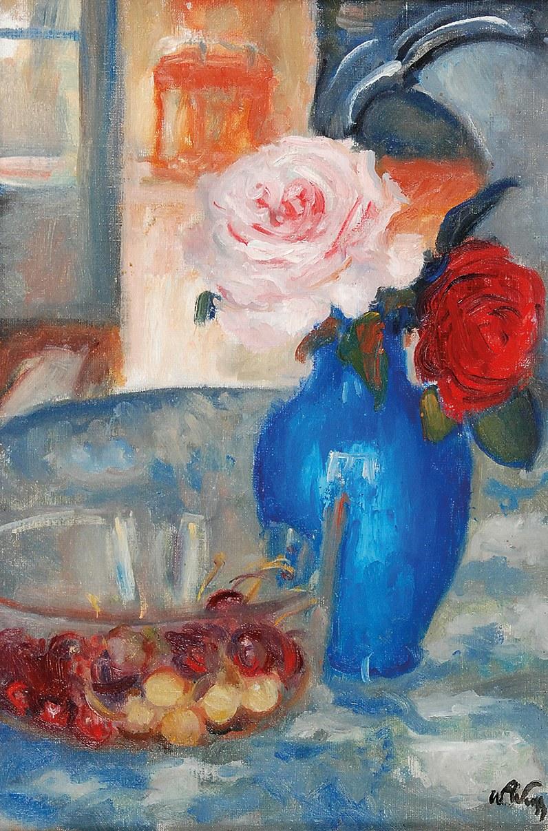Wojciech WEISS (1875-1950), Róże i czereśnie
