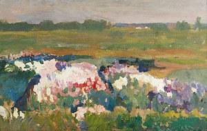 Jan STANISŁAWSKI (1860-1907), Ogród kwiatowy w Pustowarni
