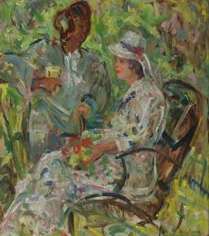 Wojciech Otton FLECK (1903-1972), W ogrodzie, przed 1950