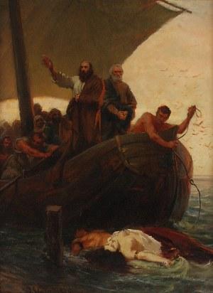 Jan STYKA (1858-1925), Scena biblijna, 1884