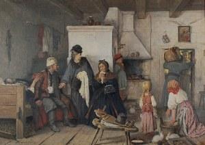 Antoni KOZAKIEWICZ (1841-1929), Scena historyczna - Zabieranie Polaka na 25 lat służby w armii carskiej