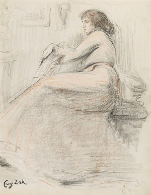 Eugeniusz ZAK (1884-1826), Femme Alanguie, 1903