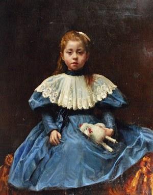 Alfred ŚWIEYKOWSKI (1869-1953) - ?, Portret dziewczynki z zabawką