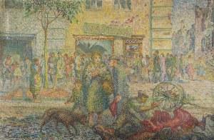 Jerzy HULEWICZ (1886-1941), Scena uliczna z września 1939 roku