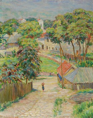 Marek SZAPIRO (1884-1941), Krzemieniec [Motyw z małego miasteczka], 1936