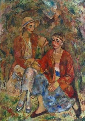 Jerzy FEDKOWICZ (1891-1959), Kobiety w ogrodzie