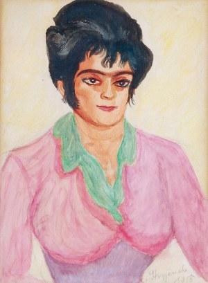 Zofia STRYJEŃSKA (1894-1976), Portret matki - Anny Lubańskiej, 1918