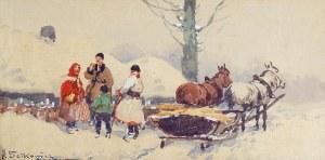 Adam SETKOWICZ (1875-1945), Przed chatą