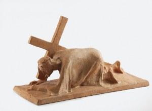 Jan SZCZEPKOWSKI (1878-1964) , Chrystus upadający pod krzyżem