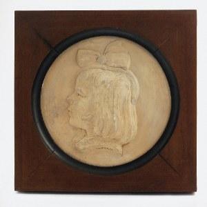 APOLINARY GŁOWIŃSKI (1884-1945), Tondo z głową dziewczynki