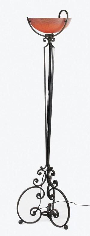 Wytwórnia DAUM, VERRERIE DE NANCY, Edgar BRANDT, Lampa podłogowa, elektryczna, art déco