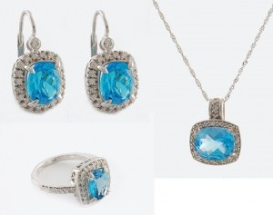 Komplet biżuterii z topazami