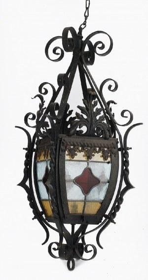 Lampa - latarnia wisząca, witrażowa