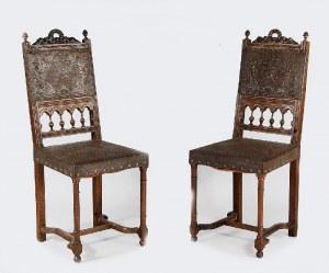 Komplet sześciu eklektycznych krzeseł