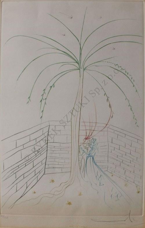 """Salvador Dali (1904-1989), Pierwsze spotkanie z cyklu """"Poszukiwanie św. Grala"""" (1975)"""