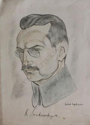 """Leopold Gottlieb (1879-1934), Portret Kazimierza Sosnkowskiego(z teki """"Legiony Polskie"""", 1916-36)"""