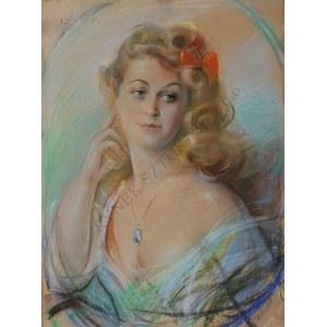 Józef Kidoń (1890-1968), Portret kobiety (1944)
