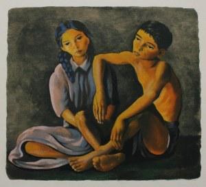 Mojżesz Kisling wg (1891-1953), Rodzeństwo(Ilustracja do: Héron de Villefosse, L'épopée bohémienne, Aux dépens d'un amateur, Paris, 1959)