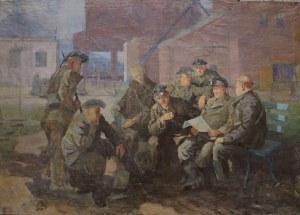 Aleksander Kobzdej (1920-1972), Robotnicy czytają gazetę(1950)