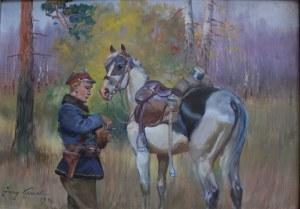 Jerzy Kossak (1886-1955), Wspólny posiłek (1942)