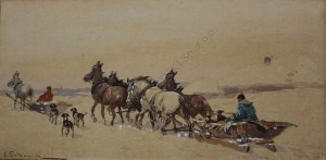 Adam Setkowicz (1876-1945), Zaprzęgi zimą