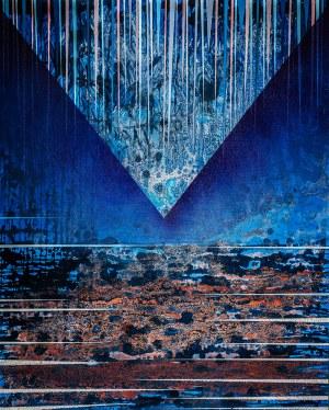 Jacek Jarczewski (ur. 1962) - Struktury niebieskie 1, 2017