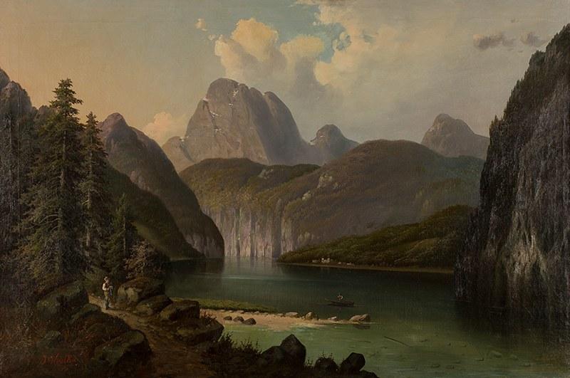 Josef Kostka (1846–1923), Pejzaż alpejski