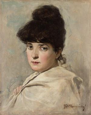 Teodor Chomiński (1858–1904 Nowy York), Portret damy, k. XIX w.