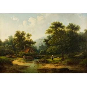Colestin Brügner (1824 Berlin – 1887 Berlin), Nad rzeką, 1859 r.