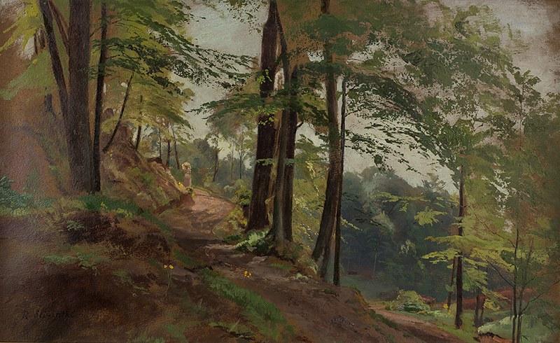 Robert Śliwiński (1840–1902), Spacer w lesie
