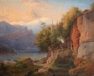 Antoni Lange (1774 Wiedeń – 1842 Lwów), Pejzaż alpejski, 1834?