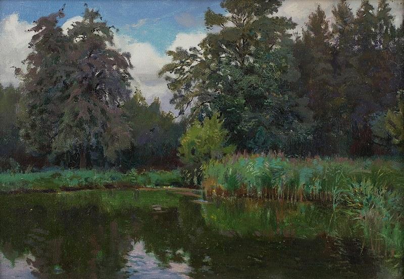 Teodor Ziomek (1874 Skierniewice – 1937 Warszawa), Pejzaż z jeziorem