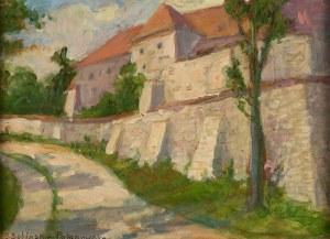Janina Bobińska- Paszkowska (1894 Warszawa – 1973 tamże), Droga wzdłuż zabudowań klasztornych w Kazimierzu nad Wisłą