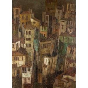 Ryszard Zając (1929–2016), Widok na miasteczko od strony portu, 1978 r.