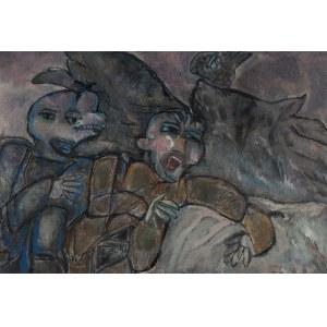Jerzy Zabłocki (1927 Łódź – 1993 Turcja), Dwie postaci z ptakiem